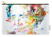 Lewis Carroll - Watercolor Portrait Carry-all Pouch
