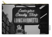 Lexington Candy Shop In Black And White Carry-all Pouch