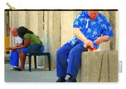 L'homme Orange Quiet Corner On St Catherine Street Downtown Montreal City Scene Carole Spandau Carry-all Pouch