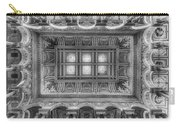 Library Of Congress Main Hall Ceiling Bw Carry-all Pouch
