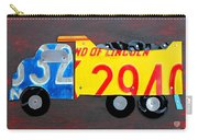 License Plate Art Dump Truck Carry-all Pouch