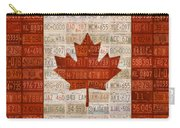 License Plate Art Flag Of Canada Carry-all Pouch