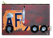 License Plate Art Semi Truck Carry-all Pouch