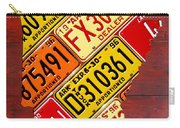 License Plate Map Of Arkansas By Design Turnpike Carry-all Pouch by Design Turnpike