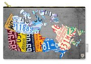 License Plate Map Of Canada On Gray Carry-all Pouch