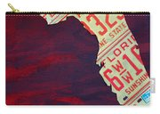 License Plate Map Of Florida By Design Turnpike Carry-all Pouch