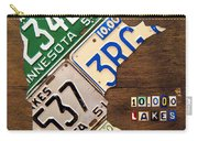 License Plate Map Of Minnesota By Design Turnpike Carry-all Pouch
