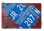License Plate Map Of South Carolina By Design Turnpike Carry-all Pouch