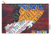 License Plate Map Of Staten Island New York Nyc Carry-all Pouch