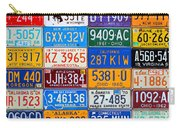 License Plates Of The Usa - Our Colorful American History Carry-all Pouch