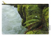 Lichen Covered Rocks With Stream In Oregon Carry-all Pouch