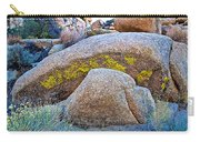 Lichen On Rocks Along Trail To Barker Dam In Joshua Tree Np-ca- Carry-all Pouch