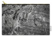 Lichen On The Whistlers - Black And White Carry-all Pouch