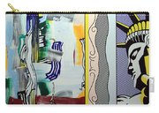 Lichtenstein's Painting With Statue Of Liberty Carry-all Pouch