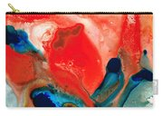 Life Force - Red Abstract By Sharon Cummings Carry-all Pouch by Sharon Cummings
