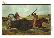 Life On The Prairie Carry-all Pouch by Currier and Ives