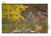 Life On The River Square Carry-all Pouch by Bill Wakeley