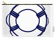 Life Preserver In Navy Blue And White Carry-all Pouch