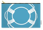 Life Preserver In White And Turquoise Blue Carry-all Pouch