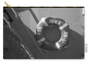 Life Ring Uss Iowa Battleship Bw Carry-all Pouch