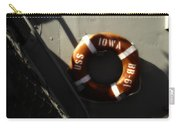 Life Ring Uss Iowa Battleship Sepia Carry-all Pouch