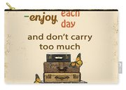 Life Typography-baggage Carry-all Pouch