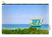 Lifeguard Station In Miami Carry-all Pouch