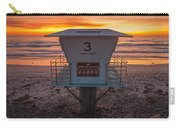 Lifeguard Tower At Dusk Carry-all Pouch