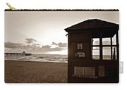 Lifeguard Tower Sunrise In Sepia Carry-all Pouch