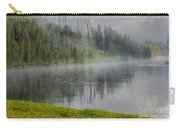 Lifting Fog On The Yellowstone River Carry-all Pouch