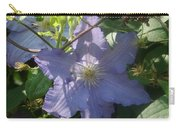 Light Blue Clematis Carry-all Pouch