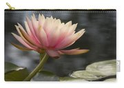 Light Pink Water Lily Carry-all Pouch