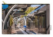 Light Rail Train System In Downtown Charlotte Nc Carry-all Pouch