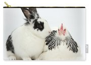 Light Sussex Bantam Hen And Rabbit Carry-all Pouch