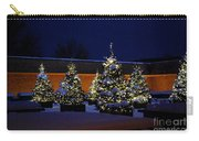 Lighted Trees With Snow Carry-all Pouch