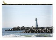 Lighthouse Breaker Santa Cruz California Carry-all Pouch by Barbara Snyder