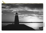 Lighthouse In Black And White Carry-all Pouch