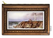 Lighthouse In Vintage Frame Carry-all Pouch