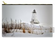 Lighthouse In Winter Carry-all Pouch