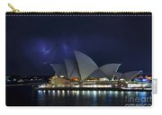 Lightning Behind The Opera House Carry-all Pouch by Kaye Menner