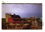 Lightning Strikes Over The Farm Carry-all Pouch by James BO  Insogna