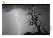 Lightning Tree Silhouette Black And White Carry-all Pouch