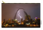 Lightning With The St Louis Arch Carry-all Pouch