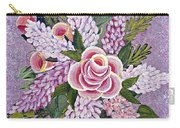 Lilac And Rose Bouquet Carry-all Pouch
