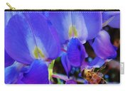Lilac Blossom And Honey Bee Carry-all Pouch