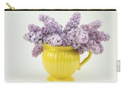 Lilac Boquet - Yellow Vase Carry-all Pouch