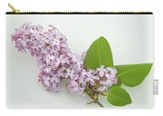 Lilac Flowers - White Background Carry-all Pouch