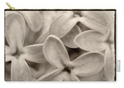 Lilac Macro Sepia Tone Carry-all Pouch