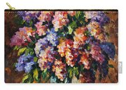 Lilac - Palette Knife Oil Painting On Canvas By Leonid Afremov Carry-all Pouch