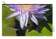 Lilac Water Lily Carry-all Pouch